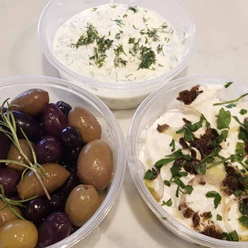 Dips and olives Trio pack